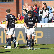 Stephen McGinn celebrates after scoring Dundee's equaliser - Dundee v Aberdeen, SPFL Premiership at Dens Park<br /> <br />  - &copy; David Young - www.davidyoungphoto.co.uk - email: davidyoungphoto@gmail.com