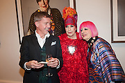 ALAISTAIR FAIRLEY; MOLLY PARKIN; ZANDRA RHODES, Opening of Bailey's Stardust - Exhibition - National Portrait Gallery London. 3 February 2014
