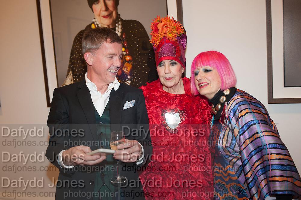 ALAISTAIR FAIRLEY; MOLLY PARKIN; ZANDRA RHODES, Opening of Bailey's Stardust - Exhibition - National Portrait Gallery London. 3 February 2014