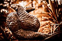 Zimsculpt at Van Dusen Botanical Garden: Pangollin - springstone sculpture by Bernard Sakarombe (original sculpture available at www.zimsculpt.com)