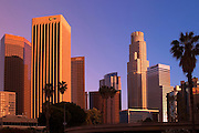 Image of skyscrapers in downtown Los Angeles, California