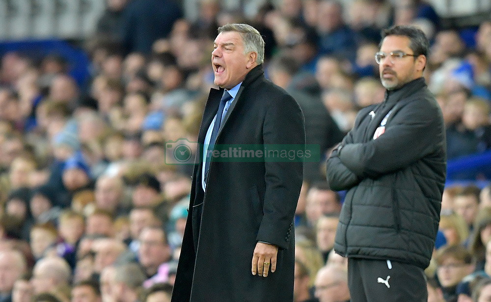 "Everton manager Sam Allardyce (left) and Huddersfield Town manager David Wagner on the touchline during the Premier League match at Goodison Park, Liverpool. PRESS ASSOCIATION Photo Picture date: Saturday December 2, 2017. See PA story SOCCER Everton. Photo credit should read: Dave Howarth/PA Wire. RESTRICTIONS: EDITORIAL USE ONLY No use with unauthorised audio, video, data, fixture lists, club/league logos or ""live"" services. Online in-match use limited to 75 images, no video emulation. No use in betting, games or single club/league/player publications."