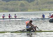 Varese,  ITALY. 2012 FISA European Championships, Lake Varese Regatta Course. ..Men's Single Sculls, GBR M1X . Graeme THOMAS, qualifying for Sundays A Final place..{TIME  {DOW}  15/09/2012.....[Mandatory Credit Peter Spurrier:  Intersport Images]  ..2012 European Rowing Championships ..Rowing, European,  2012 010851.jpg....
