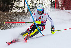 03.01.2020, Hochstein, Lienz, AUT, OeSV, Training Slalom, im Bild Marc Digruber (AUT) // Marc Digruber of Austria during a Slalom training session in preparation for the upcoming FIS Alpine Skiing World Cup Zagreb at the Hochstein in Lienz, Austria on 2020/01/03. EXPA Pictures © 2019, PhotoCredit: EXPA/ Lukas Huter