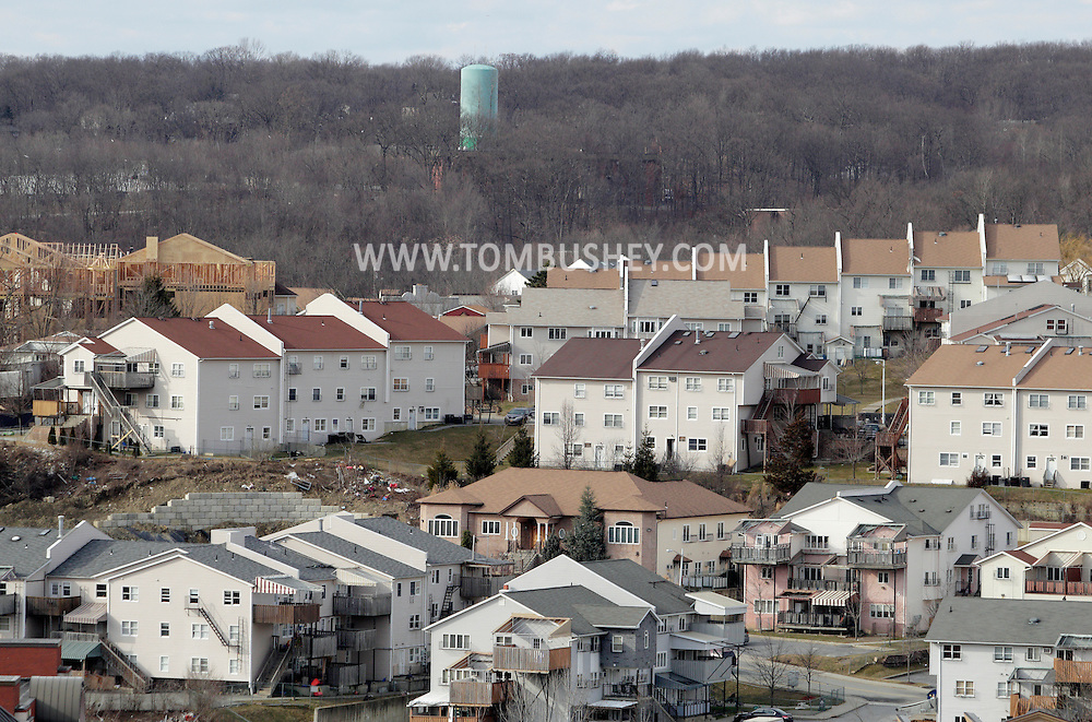 Kiryas Joel, New York  - A view of the Hasidic village of Kiryas Joel on Jan. 29, 2012. The village population of 22,000 is mostly composed of ultra-Orthodox Satmar Hasidic Jews living in high-density townhouses and condominium complexes.