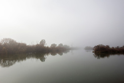 Fog settles over the South Esk River as it flows through Longford in Tasmania's Northern Midlands.