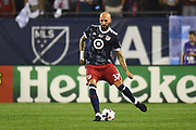 CHICAGO, IL - AUGUST 02: MLS All-Star and LA Galaxy Defender Jelle Van Damme (37) controls the ball in the first half during a soccer match between the MLS All-Stars and Real Madrid on August 2, 2017, at Soldier Field, in Chicago, IL. (Photo by Patrick Gorski/Icon Sportswire)