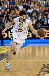 Saso Ozbolt (31) of Olimpija at Euroleague basketball match of Group C between KK Union Olimpija, Ljubljana and Maroussi B.C., Athens, on October 29, 2009, in Arena Tivoli, Ljubljana, Slovenia. Olimpija lost 75:81.  (Photo by Vid Ponikvar / Sportida)