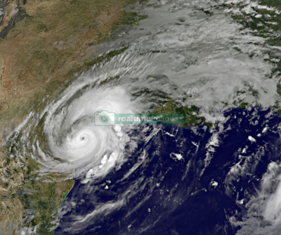 August 26, 2017 - Gulf Of Mexico, TX, United States - Hurricane Harvey continues to meander slowly inland after hitting the coast of Texas as a category 4 storm seen from the GOES-16 satellite August 26, 2017. The hurricane has weaken but is dropping record amounts of rain causing widespread flooding. (Credit Image: © Noaa/Planet Pix via ZUMA Wire)