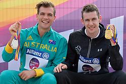 17/07/2017 : Michael McKillop T38 (IRL), T38, Deon McKenzie T37 (AUS), Men's 800m, at the 2017 World Para Athletics Championships, Olympic Stadium, London, United Kingdom