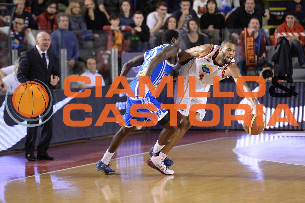 DESCRIZIONE : Campionato 2013/14 Acea Virtus Roma - Dinamo Banco di Sardegna Sassari<br /> GIOCATORE : Quinton Hosley<br /> CATEGORIA : Palleggio Equilibrio<br /> SQUADRA : Acea Virtus Roma<br /> EVENTO : LegaBasket Serie A Beko 2013/2014<br /> GARA : Acea Virtus Roma - Dinamo Banco di Sardegna Sassari<br /> DATA : 26/12/2013<br /> SPORT : Pallacanestro <br /> AUTORE : Agenzia Ciamillo-Castoria / GiulioCiamillo<br /> Galleria : LegaBasket Serie A Beko 2013/2014<br /> Fotonotizia : Campionato 2013/14 Acea Virtus Roma - Dinamo Banco di Sardegna Sassari<br /> Predefinita :
