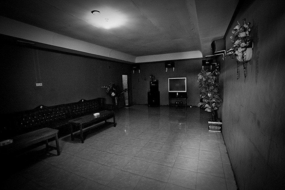 A VIP room at Bar Kharisma that also functions as a brothel.