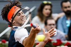 May 14, 2017 - Madrid, Madrid, Spain - DOMINIC THIEM (AUT) returns the ball to Rafael Nadal (ESP) in the final of the 'Mutua Madrid Open' 2017. Nadal won 7:6, 6:4 (Credit Image: © Matthias Oesterle via ZUMA Wire)