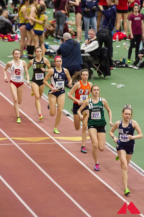 ECAC Indoor Champs, womens 4x800 relay, heat 2,