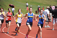 Oxford High's Emily Hankins (right) finishes first and Oxford High's Cali Mayo finishes second in the 3200 meter run during the MHSAA Region 1-5A Track Meet at Oxford High School in Oxford, Miss. on Monday, April 29, 2013.