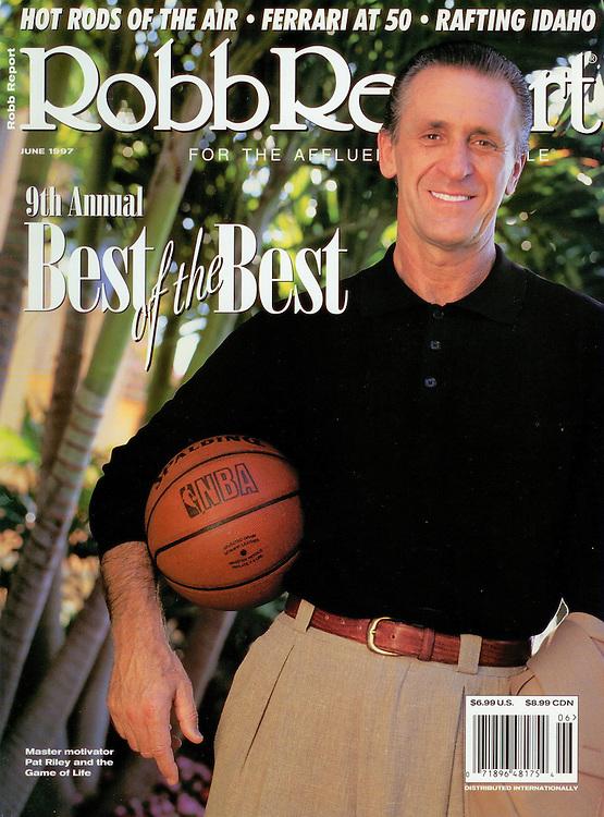 Magazine Cover - Robb Report Pat Riley