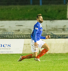 Cowdenbeath's Kris Renton cele scoring their third goal. Cowdenbeath 3 v 4 Forfar Athletic, Scottish Football League Division Two game played 17/12/2016 at Central Park.