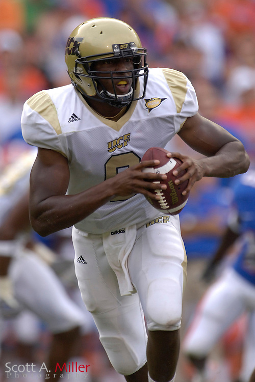 Sept. 9, 2006; Gainesville, FL, USA; Central Florida Golden Knights quarterback Steven Moffett in action during the first half of the Knight game against the Florida Gators at Ben Hill Griffin Stadium. ...©2006 Scott A. Miller