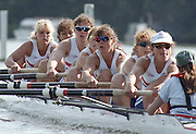 "Henley on Thames. Henley. GREAT BRITAIN;  GBR W8+ Nautilus, Cox, Suzie ELLIS, Alison GILL, Joanne TURVEY, Cath BISHOP, Miriam BATTEN, Kate POLLITT, Dot BLACKIE, Lisa EYRE and Annmarie PHELPS [nee STAPLETON]  <br /> <br /> 1995 Women's Henley Regatta. Henley Reach. River Thames.<br /> <br /> [Mandatory Credit; ""Photo, Peter Spurrier/Intersport-images]"