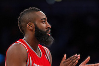 18 November 2012: Guard (13) James Harden of the Houston Rockets against the Los Angeles Lakers during the second half of the Lakers 119-108 victory over the Rockets at the STAPLES Center in Los Angeles, CA.