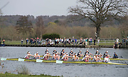 Henley. United Kingdom. Women's reserve race, Dark blue Osiris and Blondie, 2014 Henley Boat Race, Henley Reach, Annual Women's Boat Race.  River Thames; Sunday  - 30/03/2014  [Mandatory Credit; Peter SPURRIER/ Intersport Images],