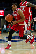 DALLAS, TX - JANUARY 21: Myles Mack #4 of the Rutgers Scarlet Knights drives to the basket against the SMU Mustangs on January 21, 2014 at Moody Coliseum in Dallas, Texas.  (Photo by Cooper Neill/Getty Images) *** Local Caption *** Myles Mack