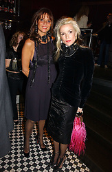 Left to right, COUNTESS DEBONAIRE VON BISMARCK and DAPHNE GUINNESS at The Christmas Cracker - an evening i aid of the Starlight Children's Charity held at Frankies, Knightsbridge on 13th December 2006.<br />