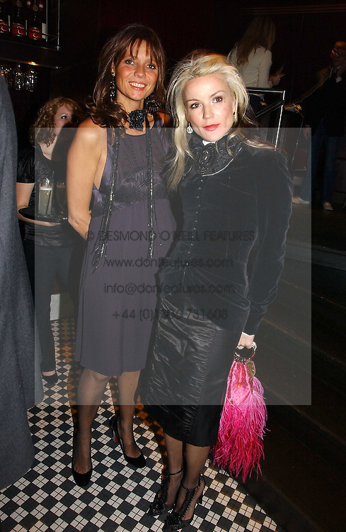 Left to right, COUNTESS DEBONAIRE VON BISMARCK and DAPHNE GUINNESS at The Christmas Cracker - an evening i aid of the Starlight Children's Charity held at Frankies, Knightsbridge on 13th December 2006.<br /><br />NON EXCLUSIVE - WORLD RIGHTS