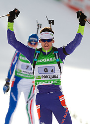 Jakov Fak of Slovenia during the Mixed 2x6 + 2x7,5km relay of the e.on IBU Biathlon World Cup on Saturday, December 19, 2010 in Pokljuka, Slovenia. The fourth e.on IBU World Cup stage is taking place in Rudno polje - Pokljuka, Slovenia until Sunday December 19, 2010. (Photo By Vid Ponikvar / Sportida.com)