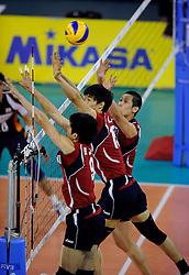 08-07-2010 VOLLEYBAL: WLV NEDERLAND - ZUID KOREA: EINDHOVEN<br /> Nederland verslaat Zuid Korea met 3-0 / Dong Jin Kang, Hyun Yong Ha<br /> ©2010-WWW.FOTOHOOGENDOORN.NL