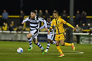 Forest Green Rovers Midfielder, Sam Wedgebury (8) makes a run during the Vanarama National League match between Sutton United and Forest Green Rovers at Gander Green Lane, Sutton, United Kingdom on 14 March 2017. Photo by Adam Rivers.