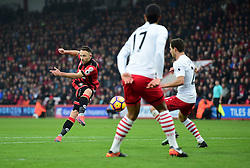 Marc Pugh of Bournemouth shoots at goal. - Mandatory by-line: Alex James/JMP - 18/12/2016 - FOOTBALL - Vitality Stadium - Bournemouth, England - Bournemouth v Southampton - Premier League