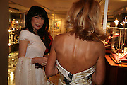 NANCY MILLER JONG AND YVONNE RIEBER,  Grosvenor House Art & Antiques Fair charity gala evening in aid of Coram Foundation. Grosvenor House. Park Lane. London. 14 June 2007.  -DO NOT ARCHIVE-© Copyright Photograph by Dafydd Jones. 248 Clapham Rd. London SW9 0PZ. Tel 0207 820 0771. www.dafjones.com.
