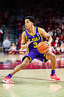 FAYETTEVILLE, AR - JANUARY 12:  Tremont Waters #3 of the LSU Tigers jumps back for a jumper during a game against the Arkansas Razorbacks at Bud Walton Arena on January 12, 2019 in Fayetteville, Arkansas.  The Tigers defeated the Razorbacks 94-88.  (Photo by Wesley Hitt/Getty Images) *** Local Caption *** Tremont Waters