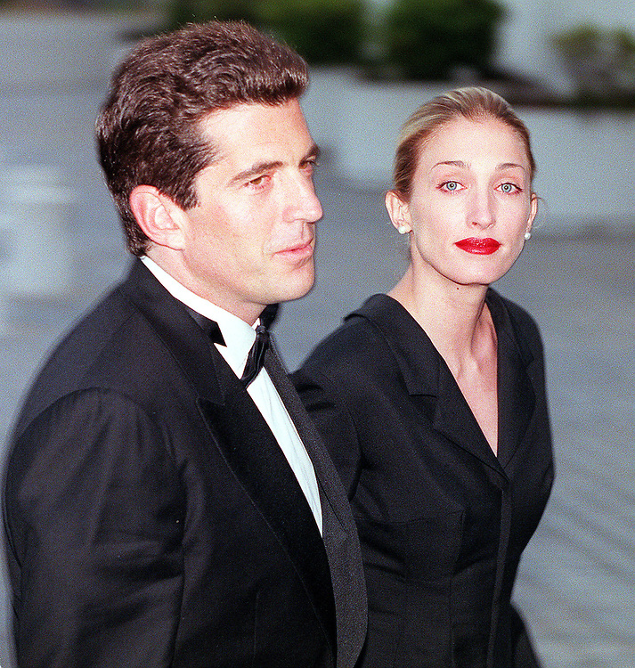 John Kennedy Jr. with his wife Carolyn Bessette Kennedy arrive at the annual John F. Kennedy Library Foundation dinner in honor of the former President's 82nd Birthday, Sunday, May 23, 1999 at the Kennedy Library in Boston, MA.  Staff Photo Justin Ide  SAVED PHOTO MONDAY