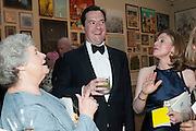 DAME ANTONIA BYATT; GEORGE OSBORNE;  FRANCES OSBORNE;, Royal Academy Annual Dinner 2013. Piccadilly. London. 4 June 2013.