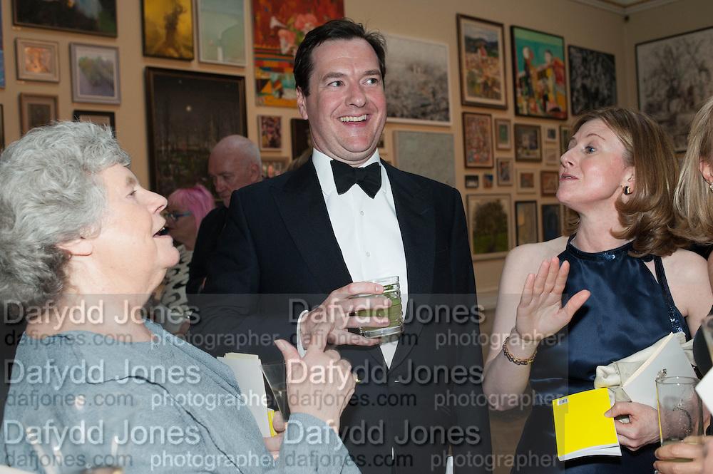 DAME ANTONIA BYATT; GEORGE OSBORNE;  FRANCES OSBORNE;, Royal Academy Annual Dinner 2013. Piccadilly. London. 4 June 2013.