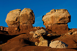 Twin Rocks in late afternoon, Capitol Reef National Park, Utah, United States of America