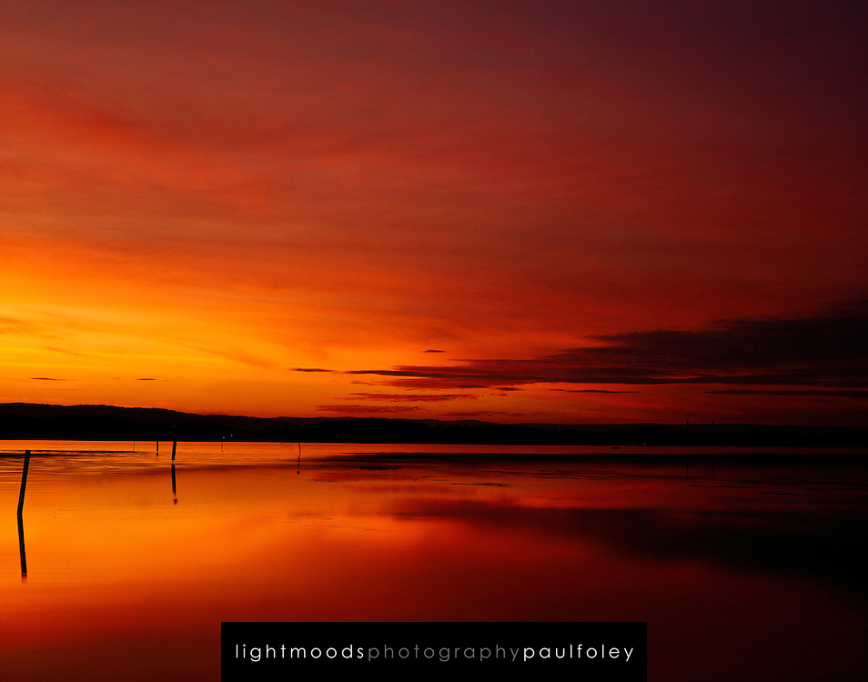 Red Sunset, Lake Macquarie, Australia