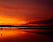 Red Sunset, Lake Macquarie, Australia