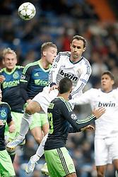 04-12-2012 VOETBAL: CL REAL MADRID - AFC AJAX AMSTERDAM: MADRID<br /> Ricardo Carvalho<br /> ***NETHERLANDS ONLY***<br /> ©2012-FotoHoogendoorn.nl