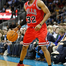 February 12, 2011; New Orleans, LA, USA; Chicago Bulls point guard C.J. Watson (32) against the New Orleans Hornets during the fourth quarter at the New Orleans Arena. The Bulls defeated the Hornets 97-88.  Mandatory Credit: Derick E. Hingle