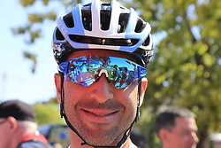 Argentinian Champion Max Richeze (ARG) Deceuninck-Quick Step at sign on before the start of Stage 5 of La Vuelta 2019 running 170.7km from L'Eliana to Observatorio Astrofisico de Javalambre, Spain. 28th August 2019.<br /> Picture: Eoin Clarke | Cyclefile<br /> <br /> All photos usage must carry mandatory copyright credit (© Cyclefile | Eoin Clarke)