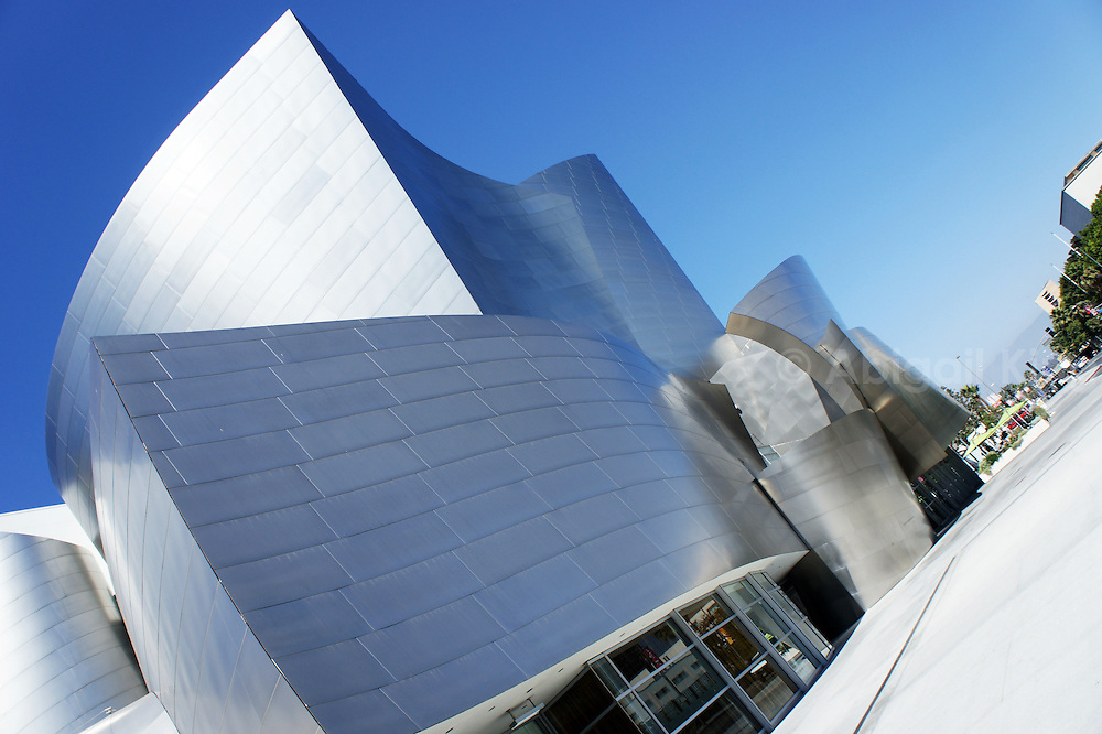 Stock images of the Gehry Walt Disney building in downtown LA