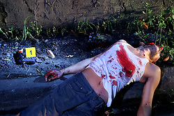 October 8, 2016 - Quezon City, Philippines - (EDITORS NOTE: Image depicts death.) Notorious top number 1 drug dealer Alias Jessie Hudas died during a buy bus operation was conducted by Masambong Quezon City Police officers in West River Side cor Senador st. in Delmonte. It's part of the total out war campaign by the government about illegal drugs. (Credit Image: © Gregorio B. Dantes Jr/Pacific Press via ZUMA Wire)