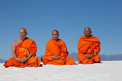monks in White Sands, NM