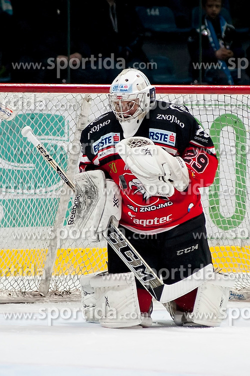 22.03.2016, Ice Rink, Znojmo, CZE, EBEL, HC Orli Znojmo vs EHC Liwest Black Wings Linz, Halbfinale, 5. Spiel, im Bild Jan Lukas (HC Orli Znojmo) // during the Erste Bank Icehockey League 5th semifinal match between HC Orli Znojmo and EHC Liwest Black Wings Linz at the Ice Rink in Znojmo, Czech Republic on 2016/03/22. EXPA Pictures © 2016, PhotoCredit: EXPA/ Rostislav Pfeffer