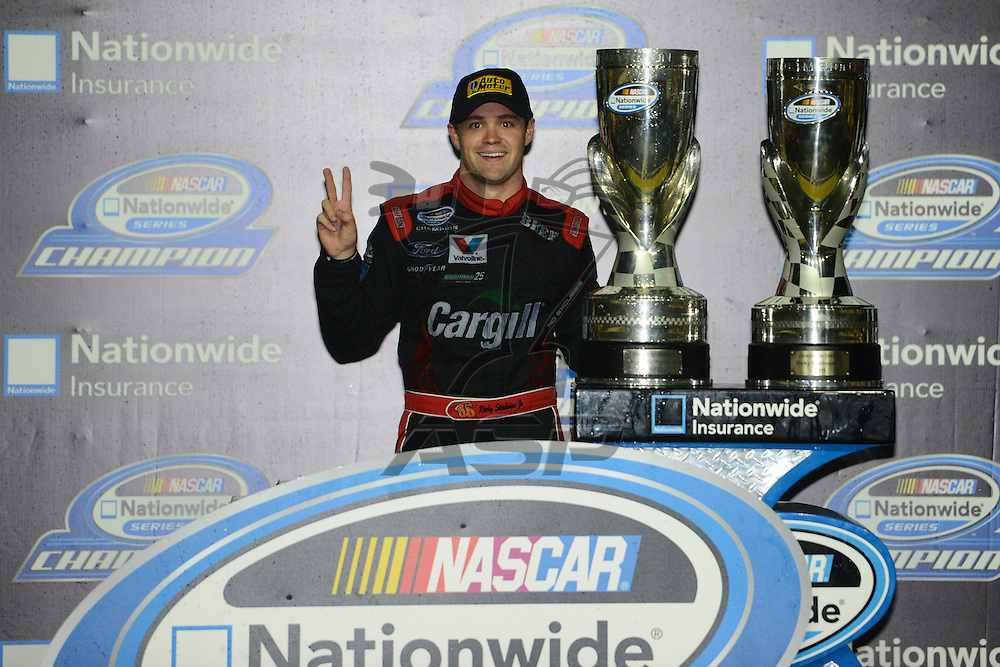 Homestead, FL - Nov 17, 2012: Ricky Stenhouse, Jr. (6) wins the Nascar Nationwide Series at the Homestead-Miami Speedway in Homestead, FL.