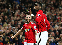 Paul Pogba of Manchester United celebrates after scoring his sides third goal  - Mandatory by-line: Matt McNulty/JMP - 18/11/2017 - FOOTBALL - Old Trafford - Manchester, England - Manchester United v Newcastle United - Premier League