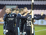 Dundee players congratulate Iain Davidson on his winner -  St Mirren v Dundee, SPFL Premiership at St Mirren Park <br /> <br /> <br />  - &copy; David Young - www.davidyoungphoto.co.uk - email: davidyoungphoto@gmail.com
